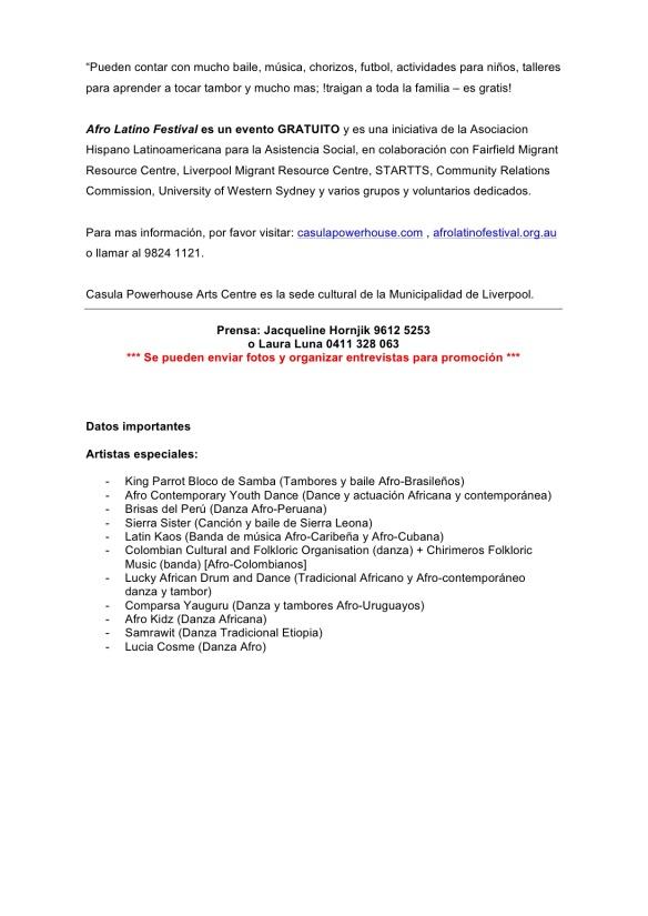 Comunicado_ Afro Latino Festival 24 February 2014 - 2