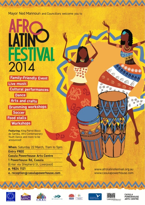 Afro Latino Festival poster A3
